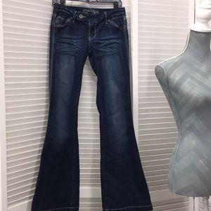 "True Bliss Jeans ENC Flare leg Sz 7 -34"" inseam"